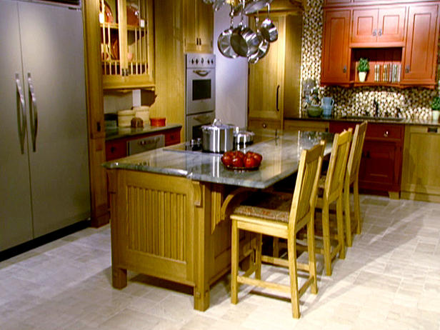 Arts and Crafts Style kitchen Decorating