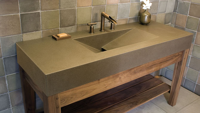 Concrete Countertops Bathroom