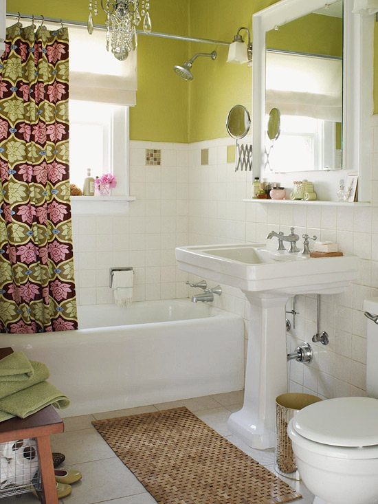 How to make your small bathroom look bigger home design for Bathroom looks ideas