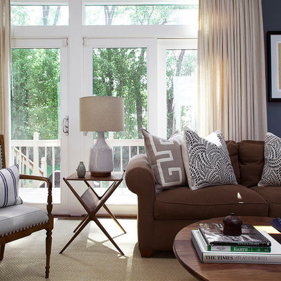 Living Room With Brown Sofas | Home Design Tips and Guides