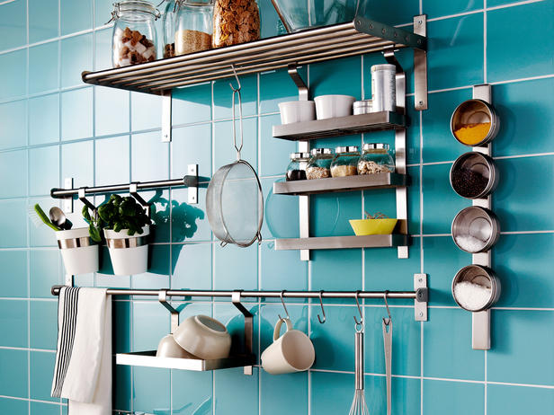 kitchen wall organizer system