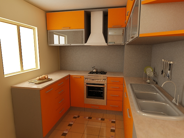 Kitchen cabinets for small spaces afreakatheart for Compact kitchens for small spaces