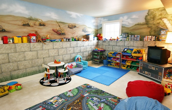 basement decorating ideas for kids