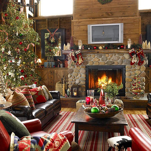 Old-Fashioned Country Christmas Decorating