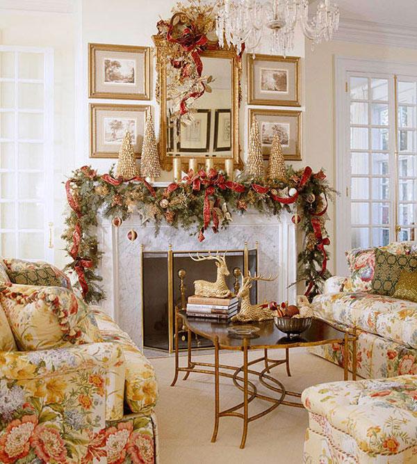 Elegant Christmas Mantel Decorations