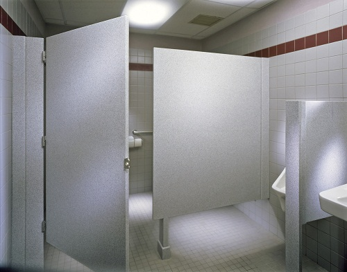 commercial bathroom stalls used