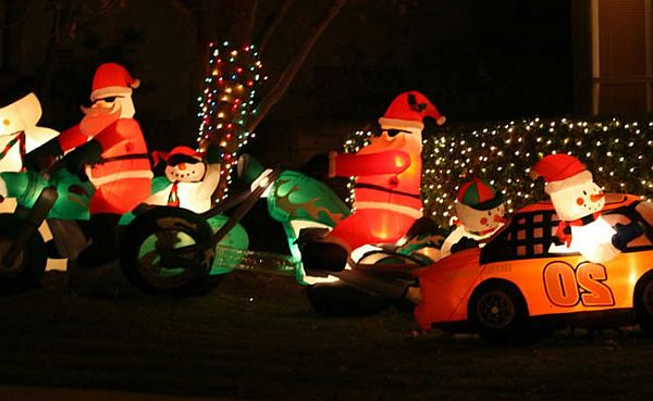Inflatable Lawn Decorations for Christmas