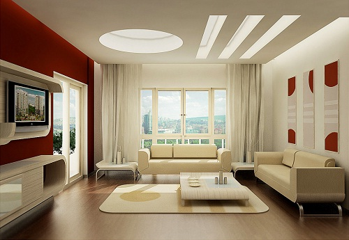 Mid Century Modern Family Room