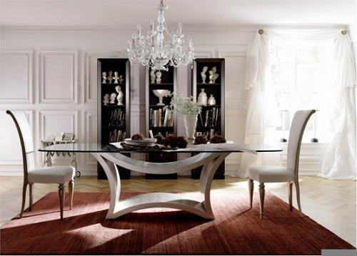 Glass Dining Room Tables Glass Dining Room Tables