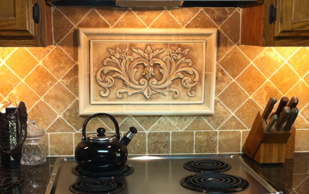 Kitchen Ceramic Tile Mural Backsplash Joy Studio Design