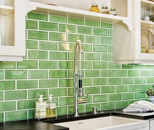 green subway tile kitchen backsplash car tuning