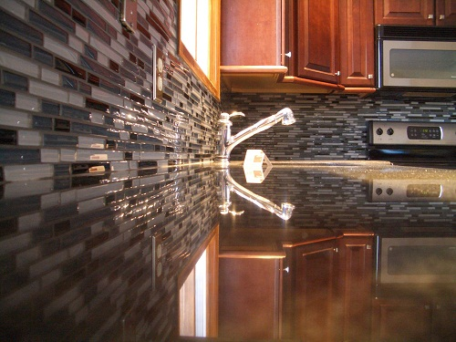 Glass Tile Kitchen Backsplash Ideas Glass Tile Kitchen Backsplash Ideas