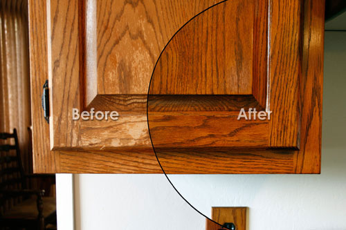 Refinishing kitchen cabinets cost home design tips and - Refinish old kitchen cabinets ...