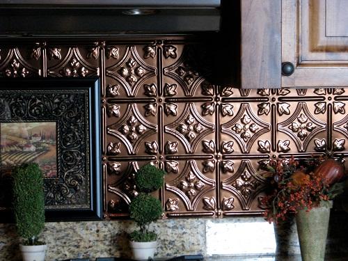 Kitchen Tin Backsplash Home Design Tips and Guides