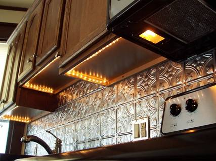 Rope Light Under Cabinets. Rope Light Under Cabinets. Another Option Of Under  Kitchen Cabinet Lighting ...