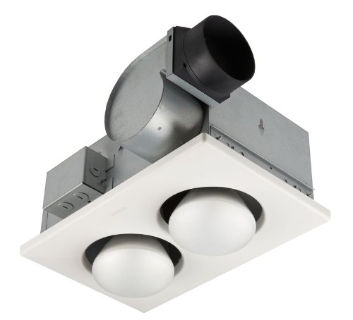 Bathroom Heat Lamp Fixture with Fan