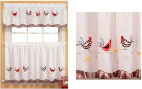 Rooster Curtains for Kitchen