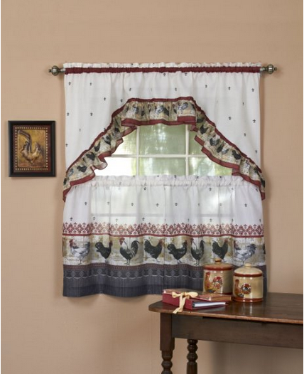 Rooster Swag Kitchen Curtains Picking Rooster Curtains for Kitchen