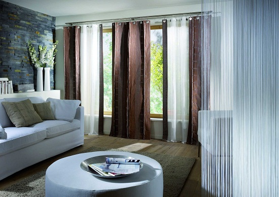 Sheer Living Room Window Treatments