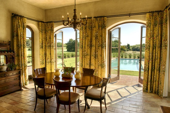 Arch French Door Window Treatments