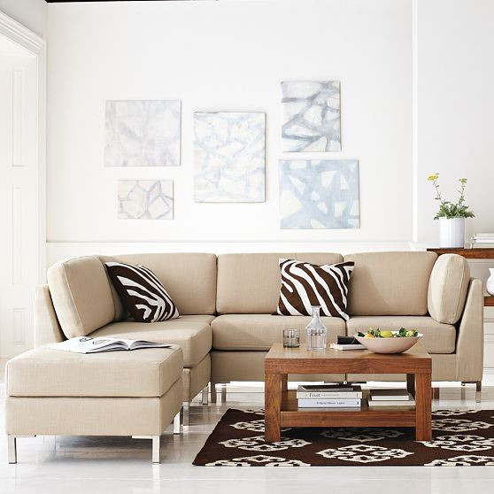 Armless Sectional Sofas for Small Spaces