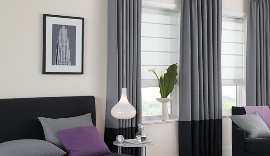 Aventura Roman Shade Blackout Roman Shades