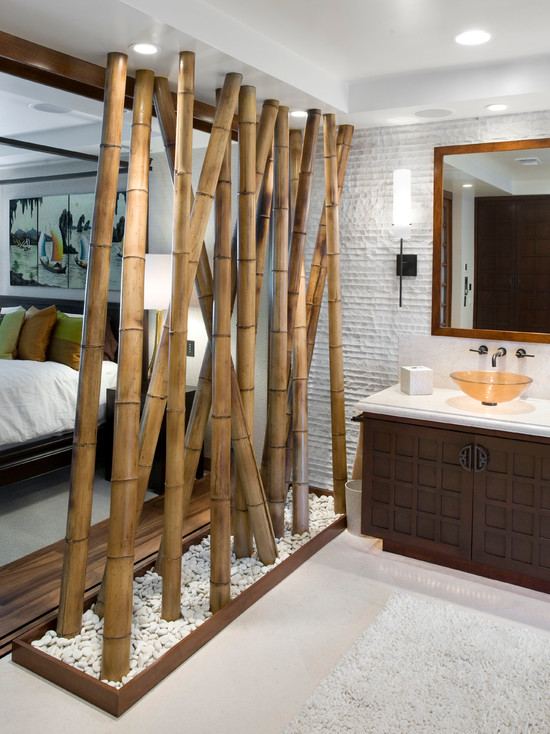 hanging room divider bamboo