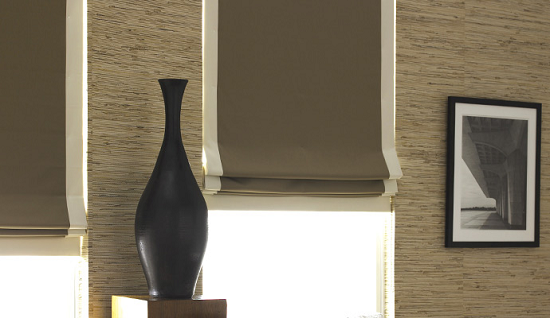Blackout Flat Roman Shades