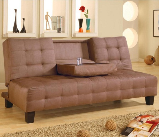 Click Clack Futon with Cup Holder Click Clack Futon