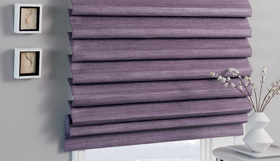 Pleated Roman Shade Blackout Roman Shades