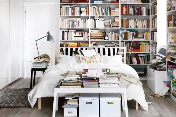 Hipster Disheveled Bookcase