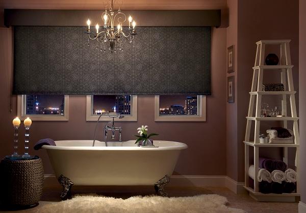 Room Darkening Roller Shades - Bathroom