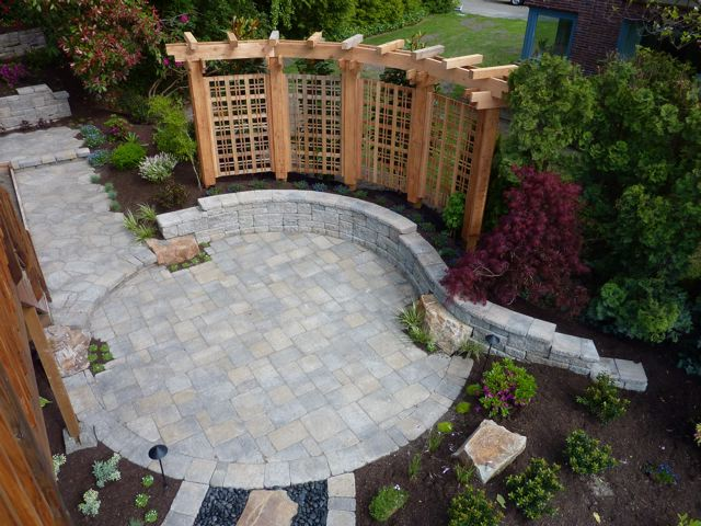 pics photos backyard paver patio designs pictures 7