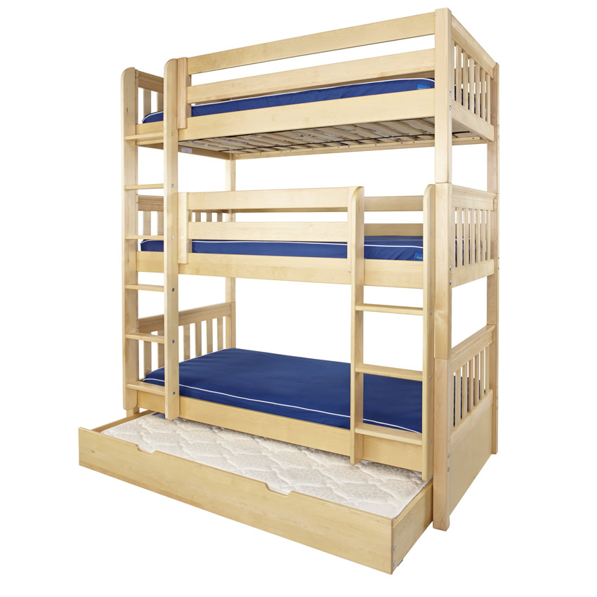 DIY Triple Bunk Bed Plans with Dimensions Triple Bunk Bed Plans l ...