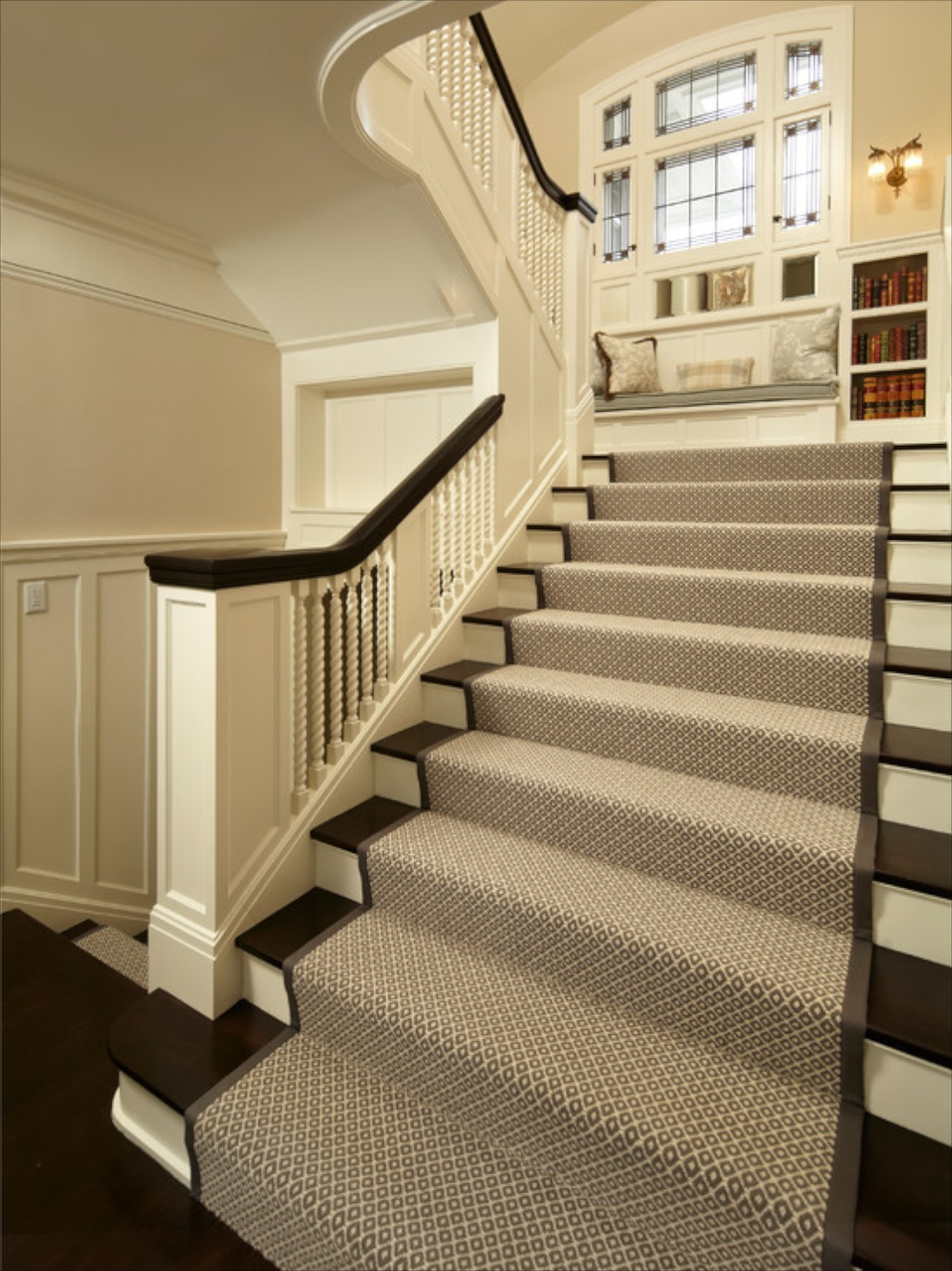 Carpet Stair Treads Traditional Staircase