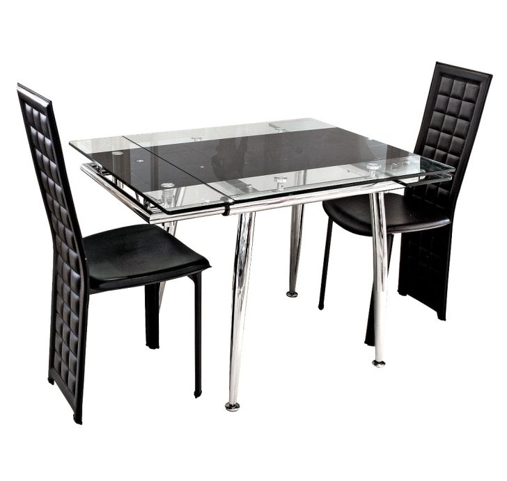 Glass Dining Table Sets Compact Table