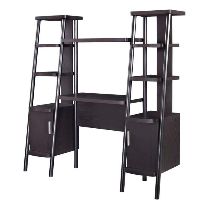 Ladder Bookcases Altra Espresso Towers with Desk