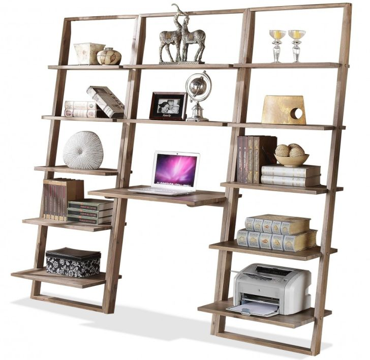 Ladder Bookcases Impressive Reclaimed Wood Leaning