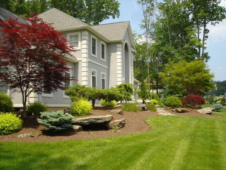 Landscape Ideas for Front Yard Island