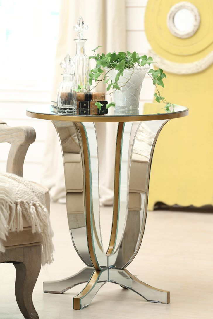 Mirrored Furniture Design Table