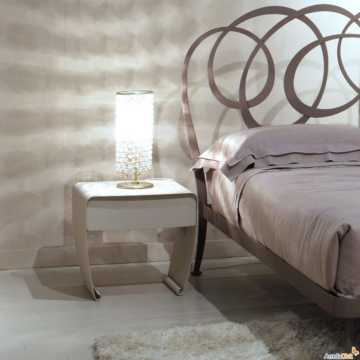 Nightstand Bedroom Elegant White Finish