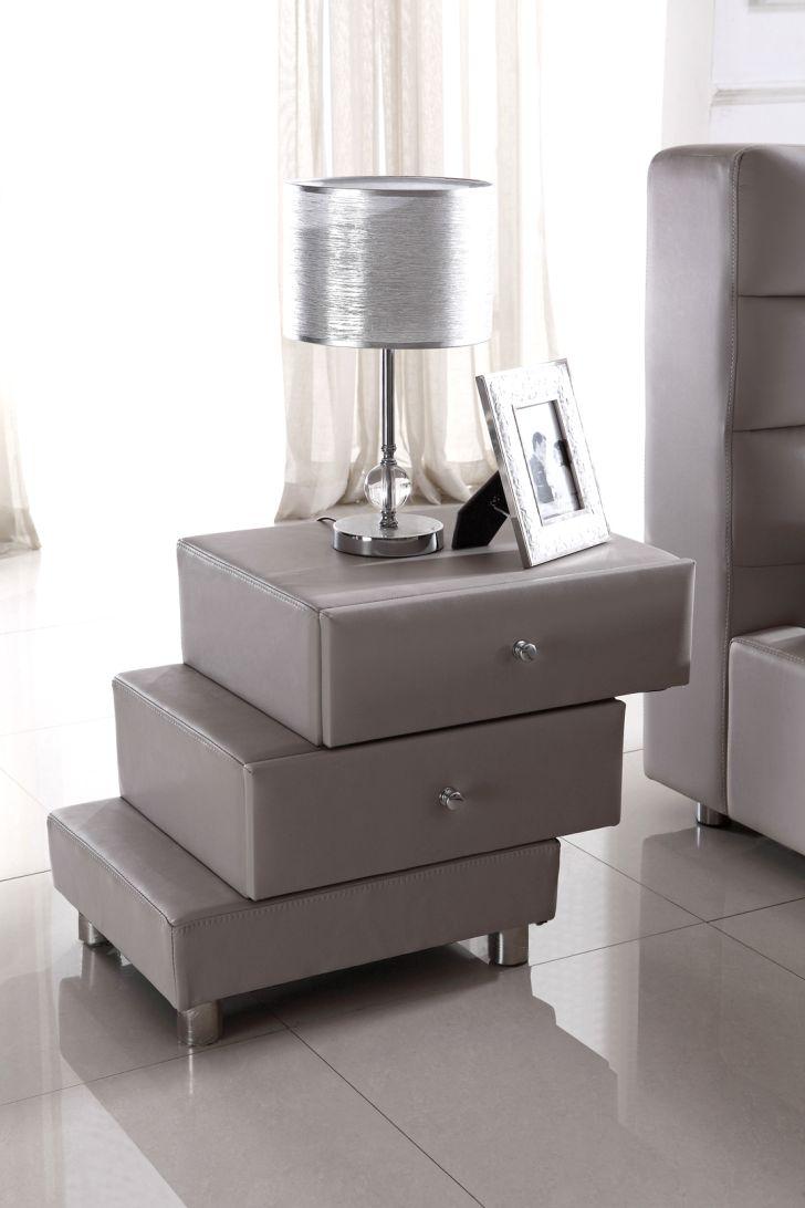 Nightstand Modern Terracing Upholstered