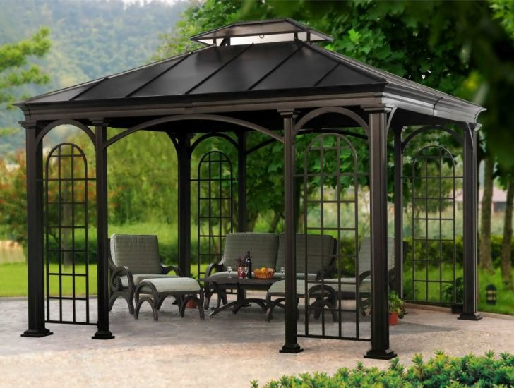 Outdoor Gazebo Design Metal Ideas