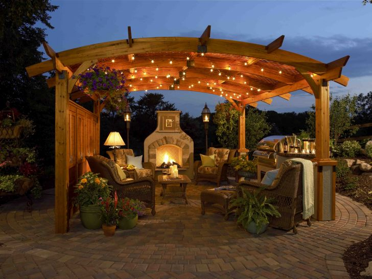 Outdoor Gazebo Design Sonoma Greatroom Pergola Evening