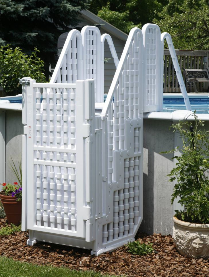 Pool Stairs with Gate