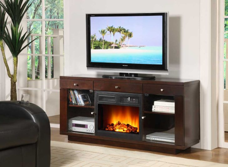 TV Stand Fireplace Heater Combo