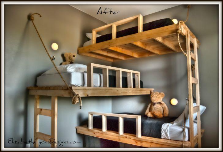 Triple Bunk Bed Plans Elizabeth Lyons Design