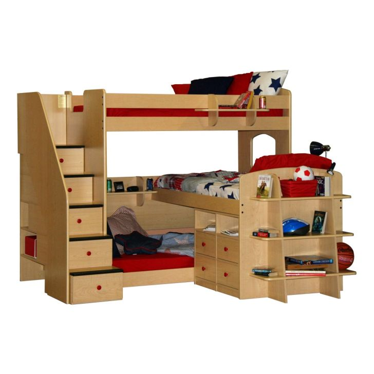 Triple Bunk Bed Plans for Kids