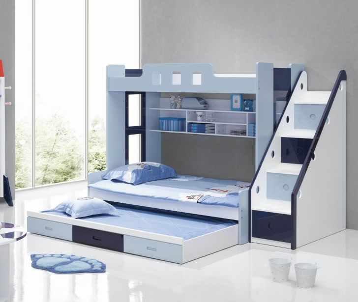 Triple Bunk Bed Plans with 3 Drawer Storage