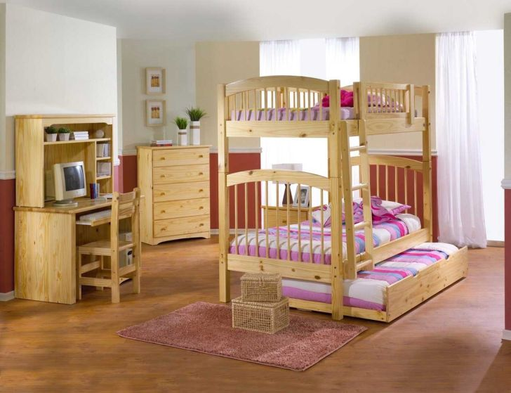 Triple Bunk Bed Plans with Stairs